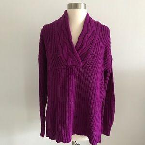 Ralph Lauren Sweater Chunky Knit V Neck